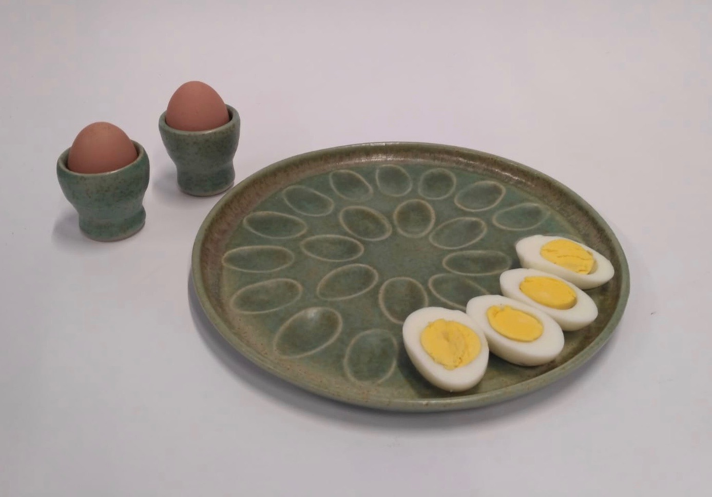 Plate for stuffed eggs